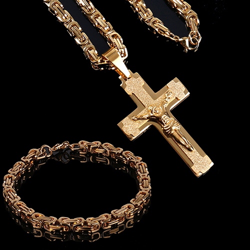 Edelstahl Kette Rosenkranz Gebet Kreuz Jesus Maria Gebet NEU Damen Herren Silber